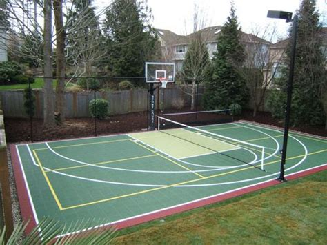 Outdoor Sport Court Lighting Pickleball It S A Seattle Thing And Basketball Court Combo With Lighting Pretty Dreamy If
