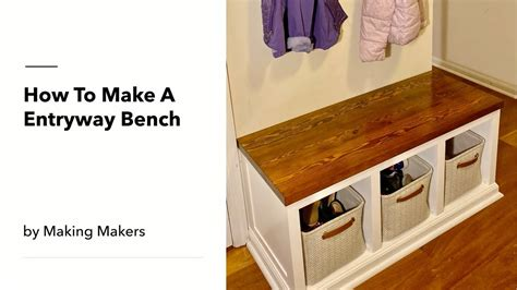 entryway bench youtube
