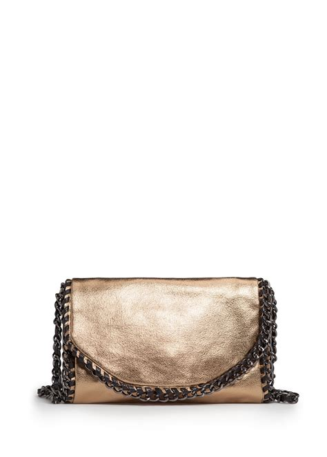 Mango Touch Bag mango touch chains metallic bag in gold 94 lyst