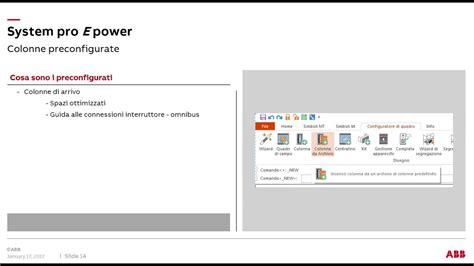 Tutorial E Design Abb | inserimento colonna preconfigurata tutorial e design n