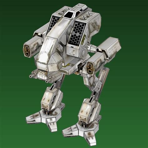 Papercraft Mech - mechwarrior 4 vulture papercraft