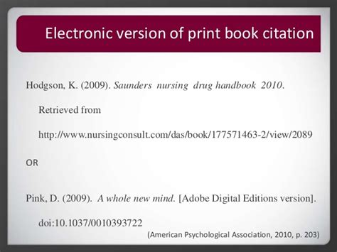 reference book citation roseman library apa citation reference page