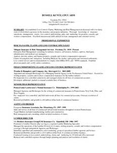 Underwriter Resume Sle by Property And Casualty Insurance Underwriter Resume