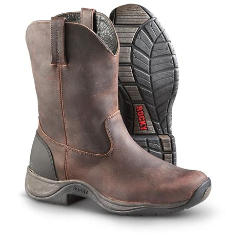 s rocky 174 waterproof pull on barnstormer boots saddle