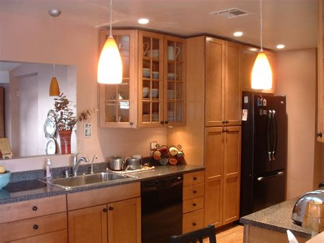 small kitchen recessed lighting ideas with mini pendant