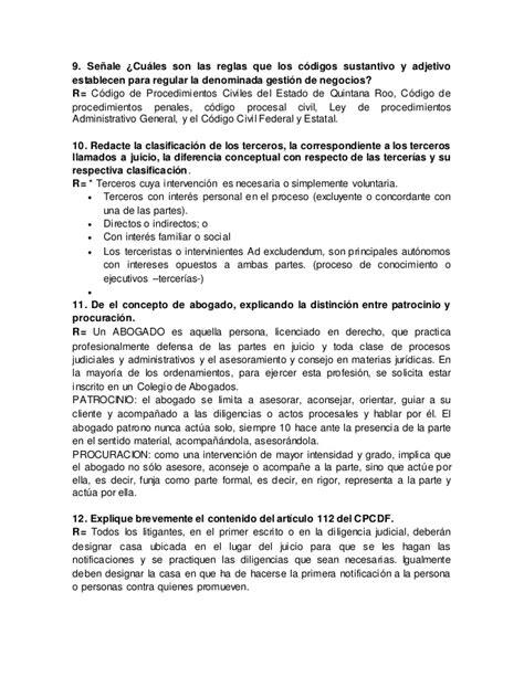 codigo civil procedimientos civiles estado quintana roo autoevaluacion procesal civil