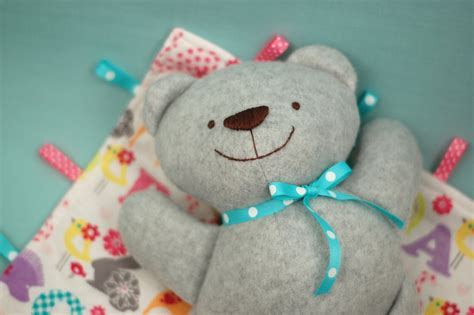 simple pattern for a teddy bear baby bear and blankie set a new pdf sewing pattern