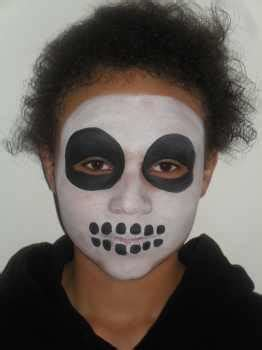 skeleton face painting face painting examples animal