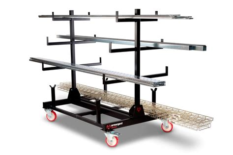 mobile pipe rack up to 2 tonne capacity ladder