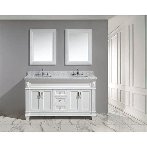 design element bathroom vanities design element hudson 60 quot double sink vanity set white
