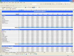 home budget spreadsheet household budget excel templates