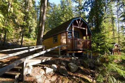 Halcyon Springs Cabin Rentals day light picture of halcyon springs nakusp