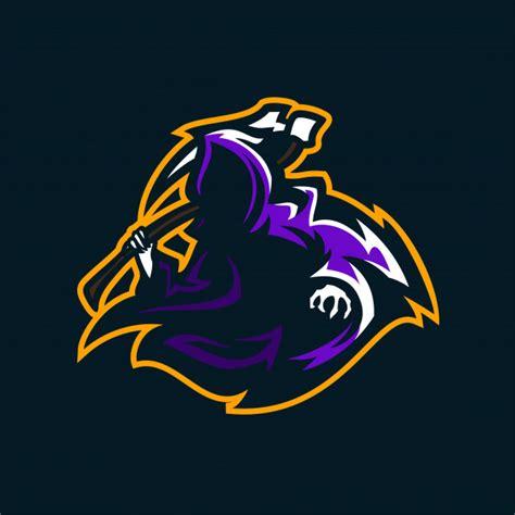 ange de la mort sport gaming mascotte logo modele