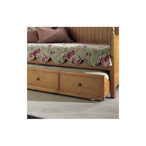 Wood Daybed With Trundle Fashion Bed Casey Wood Daybed Trundle Honey Maple Finish Ebay