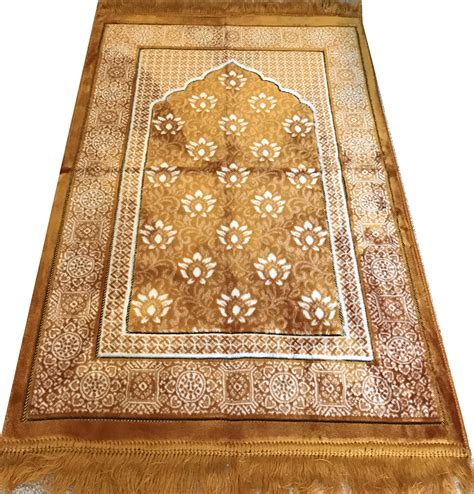 janamaz prayer rug modefa turkish islamic prayer rug janamaz sejadah plush velvet ipek gold ebay