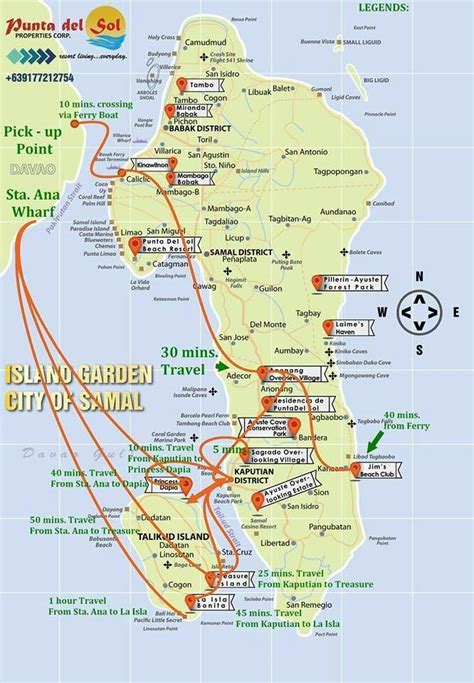 mulan resort davao map map of samal island the location of the projects