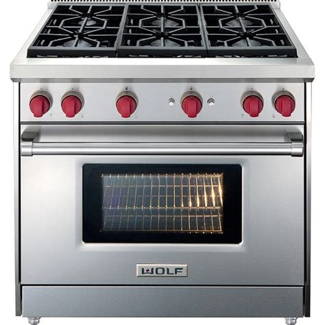 Thermador Cooktops Gas Wolf Gr366 36 Quot Gas Range 6 Burners