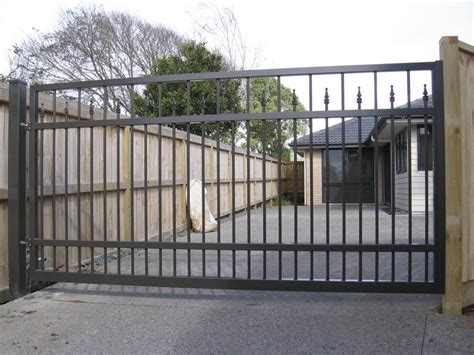 swinging driveway gate pin metal swing gate bekafor classic betafence on pinterest