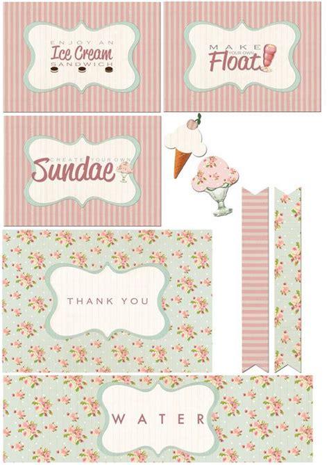 printable ice cream party decorations ice cream party party printables and printables on pinterest