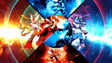 anime girl wallpaper mega mega blaziken vs mega lucario wallpaper by fruitynite on