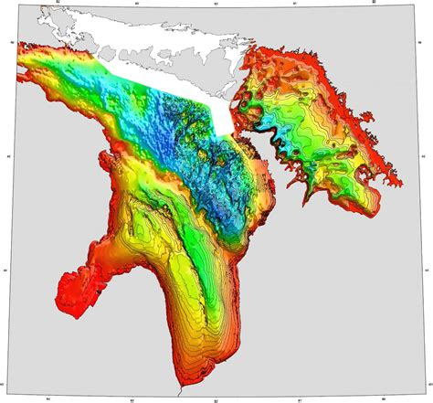 depth map lake huron depths map mappery