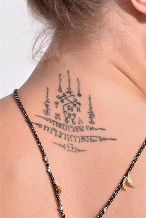 khmer neck tattoo ink pinterest cara delevingne