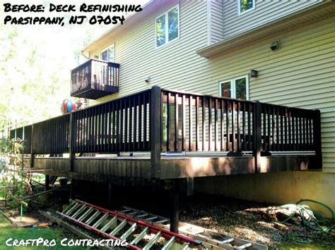 dark brown stain   deck     power