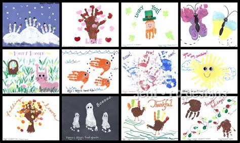 handprint calendar template gift given kid s handprint calendar