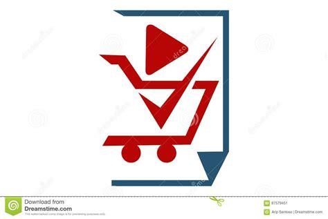 vector emblem tutorial shop on line affiliation marketing video tutorial stock