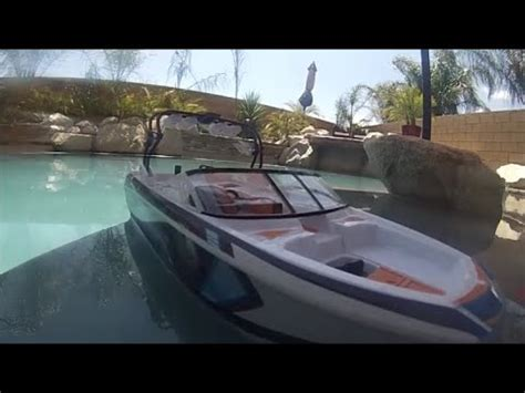 nautique wakeboard boat toy super air nautique rc boat test cruise youtube