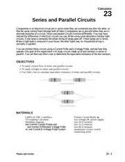series parallel circuits lab report lab report 2 series and parallel circuits researcher section 001 experiment 1 date