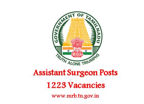 Of Tennessee Mba Application Deadline by Mrb Tn Recruitment For 1223 Assistant Surgeon Posts