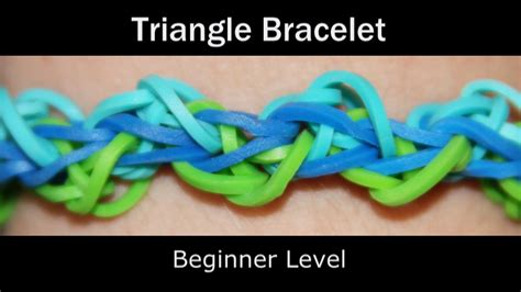 triangle loom pattern rainbow loom 174 triangle bracelet youtube