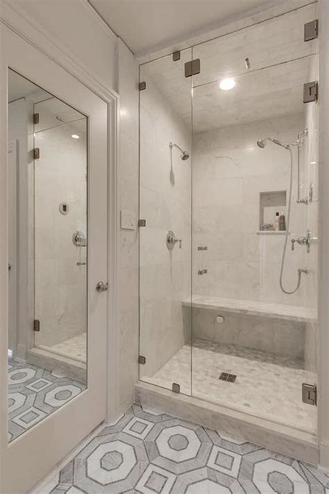 marbled tile glass door showe gray bathroom i like the gray oval marble shower tiles contemporary bathroom