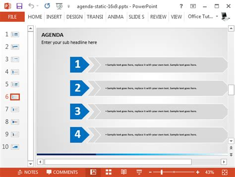 agenda list powerpoint template fppt