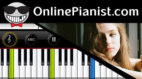 tutorial piano not about angels birdy not about angels the fault in our stars