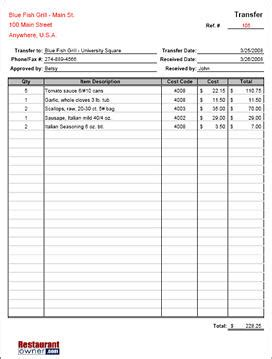 printable order form pered chef download requisition transfer form chef pinterest
