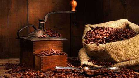 Coffee Sack Wallpaper | coffee grinder bag coffee beans wallpaper 1920x1080