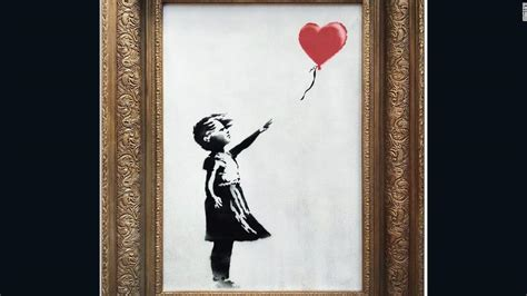 banksy painting  destructs moments   sold