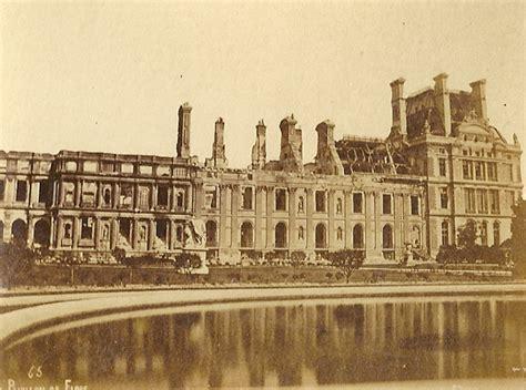 pavillon 3 x 5 file palais des tuileries apr 232 s mai 1871 vue du pavillon