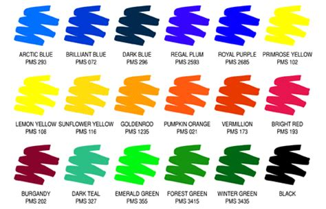 sign colors color guide