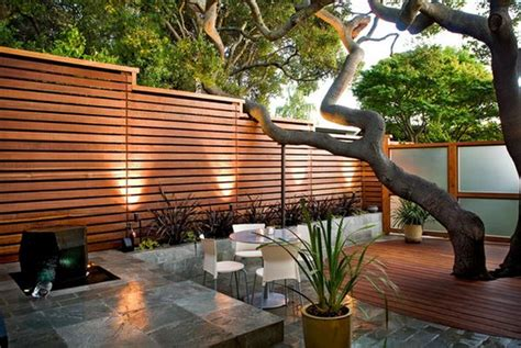 modern backyard fence add privacy and to your modern home with a wood fence