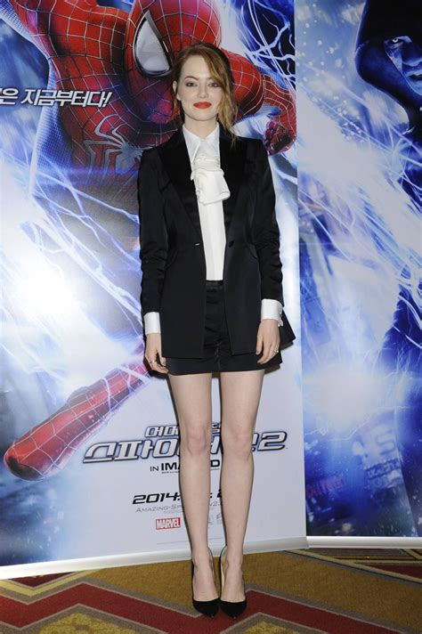 emma stone korean emma stone at the amazing spider man 2 press conference in