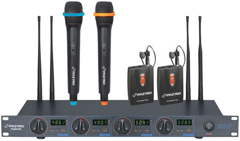Rack Mount Wireless Microphone System by Pyle Pro Pdwm7300 Rack Mount Wireless Uhf Microphone