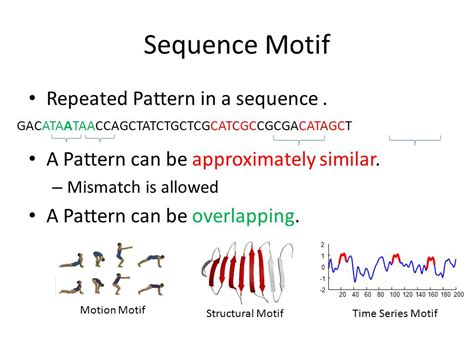 pattern motif protein finding time series motifs on disk resident data ppt