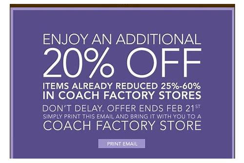 coach outlet coupons feb 2018