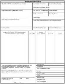 proforma invoice template xls export proforma invoice format invoice template ideas