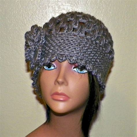 abby knitted beanie grey gray cloche hat flapper womens downton abby freeform