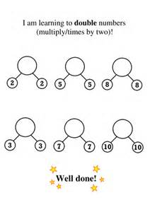 doubling and halving simple and clear worksheets by