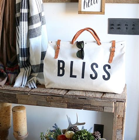 New Features On Bag Bliss by Bliss Canvas Utility Bag Painted Fox Home